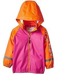 Kozi Kidz Rain Jacket Unlined Pink & Orange