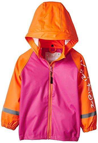 Kozi Kidz Mädchen Regenjacke Koster Plain, Pink/Orange, 100 cm, 5055381810668 (Kidz Mädchen)