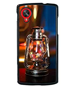 PrintVisa Designer Back Case Cover for LG Nexus 5 :: LG Google Nexus 5 :: Google Nexus 5 (Lamp Vintage Fuel Metal Fire Flame Antique)