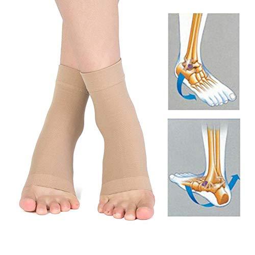 LLQ Fußgelenk, mit Knöchelpolster-Schutzsocken, für Skating Hockey Inline Roller Wandern oder Reitstiefel 2 Paar