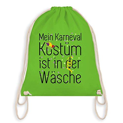 Anlässe Kind - Mein Karneval Kostüm ist in der Wäsche - Unisize - Hellgrün - WM110 - Angesagter Turnbeutel / Gym Bag