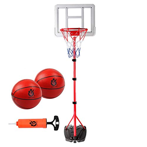 Transportable Korbanlagen Tragbare Basketballkorb für Kinder Teen, Höhenverstellbarer Basketball-System Mit Rim Und Net Ballpumpe, Indoor Outdoor Games