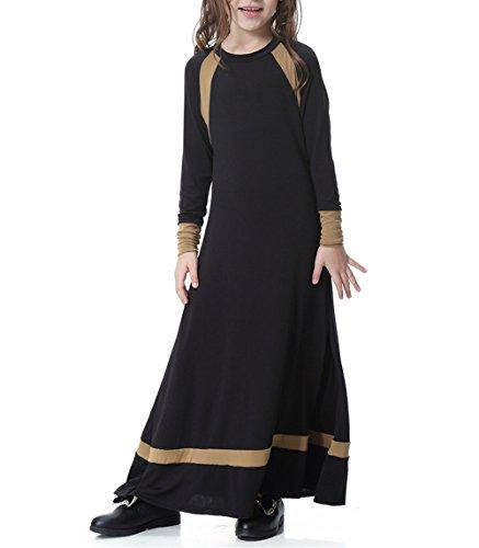 Swallowuk Mädchen Muslim Abaya Dubai Dress Muslimische Girls Kleider Kleidung Abendmode...