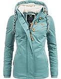 Ragwear Damen Winterjacke Kapuzenjacke Lynx Dusty Blue Gr. S