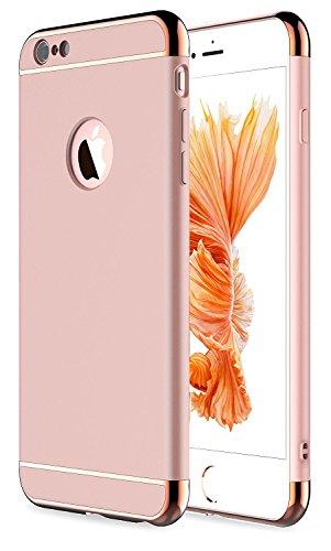 iPhone 7Plus Fall, zaox-in Stylisches Slim Hard Case mit 3Abnehmbare Teile Slim Fit Shell Hartplastik Full Schutz Kratzfest Resistent Schutzhülle für iPhone 7Plus, Rose Gold