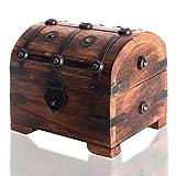 Generic * Easure Ches durevole legno Asure petto Storage box pirata forziere dei pirati età box unico unico metal Construction Ion unico
