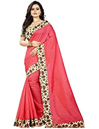 Aaradhya Fashion Saree For Women Bhagalpuri Silk Soft Plain Saree With Blouse And Shinning Printed Border For...