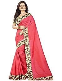Aaradhya Fashion Saree For Women Bhagalpuri Silk soft Plain Saree with Blouse and shinning Printed Border for Girls instruments 1 women