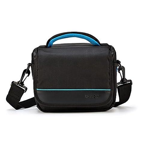 CAISON Camera Case Shoulder Bag for Mirrorless Camera Canon EOS M6 M5 M3 M10 / Panasonic Lumix DMC G80 GX8 G7 / Single Lens DSLR Camera NIKON D7500 D5600 D3400 / Canon EOS 200D 1300D 800D 750D 760D