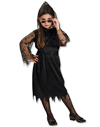 Girls Gothic Kostüme Vampir (Gothic Spitzen Vampir Kostüm für Mädchen Halloween Verkleidung Large)