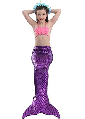 Das Beste Mädchen Meerjungfrauen Muschel Bikini Kostüm Meerjungfrau Schwimmanzug Badeanzüge Tankini (150, (Kostüme Beste Meerjungfrau)