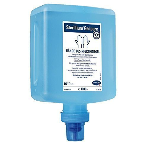 1 Liter Gel (Hartmann Sterillium® Gel pure Hände-Desinfektionsgel 85% Ethanol, 1 Liter Überkopf-Flasche für CleanSafe Spender)