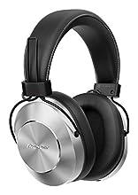Pioneer SE-MS7BT(S) Cuffie Auricolari Bluetooth Over-Ear (microfono, audio ad alta risoluzione, NFC, riproduzione 12 ore, alto comfort, per smartphone, tablet, design in alluminio), argento-nero