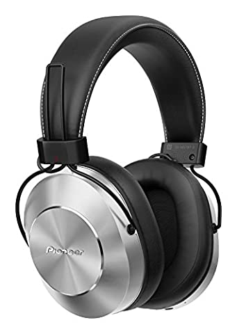 Pioneer SE-MS7BT-S Wireless Over Ear Headphone with Integrated Microphone and Controls - Silver