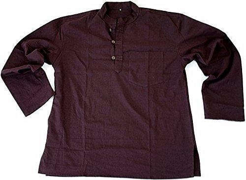 BUDDHA arts&more Kurta-Fishermanhemd (M, braun) (Kurta Shirt Bluse)