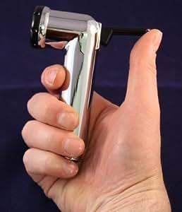 Douchette manuelle pour bidet avec tuyau anti torsion et support mural - Chrome