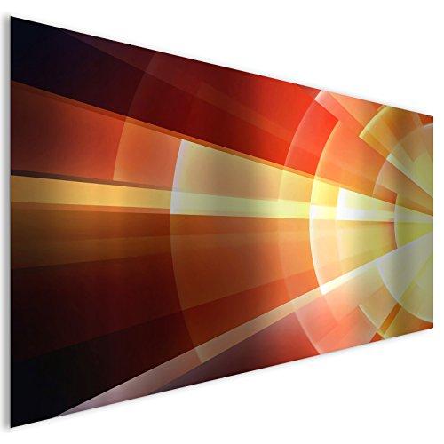 astratto oro lucido vetro acrilico moderno Wall Art XL