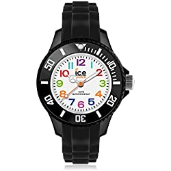 Ice-Mini Children's Size Ice-Watch White Dial Colourful Numbers Black MN.BK.M.S