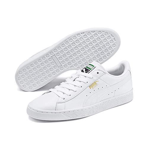 Puma Unisex-Erwachsene Basket Classic LFS Sneakers, Weiß White), 43 EU