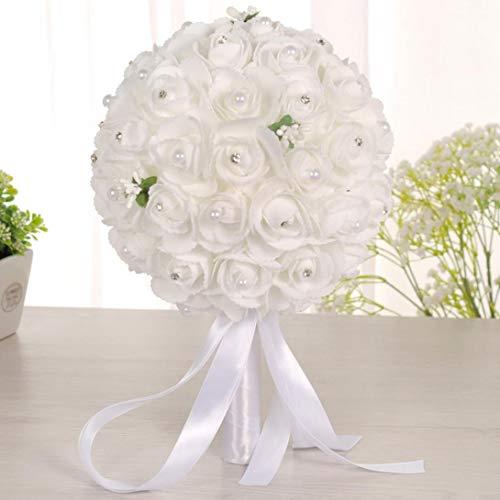 n Brautjungfer Hochzeit Blumenstrauß Brautstrauß Künstliche Seidenblumen ()