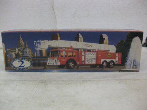 sunoco-aerial-tower-fire-truck-second-in-a-series-in-red-135-scale-by-sun-company-by-diecast-135-sca