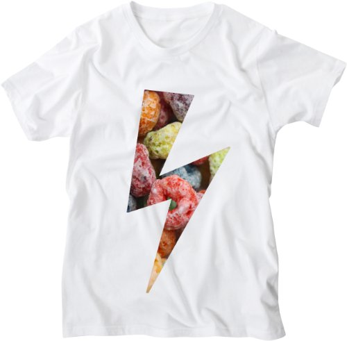 Mister Merchandise White Design Herren T-Shirt Lightning Bolt Candy Weiß