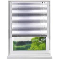 Fensterdecor Standard Aluminium Jalousie/Silber 180 x 150 cm (BxH)