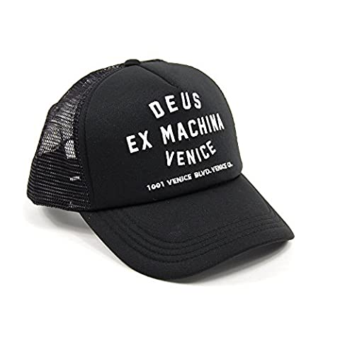 Deus Ex Machina Venice Address Trucker Cap - Black One Size