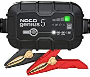 NOCO GENIUS5, 5-Amp Fully-Automatic Smart Charger, 6V and 12V Battery Charger, Battery Maintainer, Trickle Cha