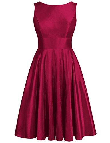 JAEDEN - Robe - Femme Rouge - Bordeaux