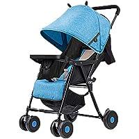LjfⓇ Passeggino per Passeggino Leggero Hot Mom, Passeggino da Viaggio con Sedile reclinabile e Facile Passeggino per Aereo Compatto Pieghevole a Una Mano, (0-36 Mesi)