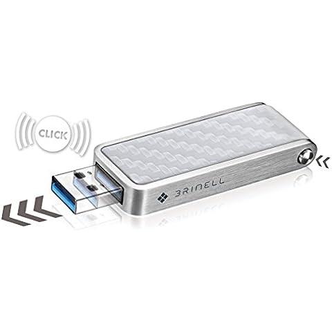Brinell–Penna-Action chiavetta USB 3.0–Red dot Award 2013 Carbone/Bianco 240 GB