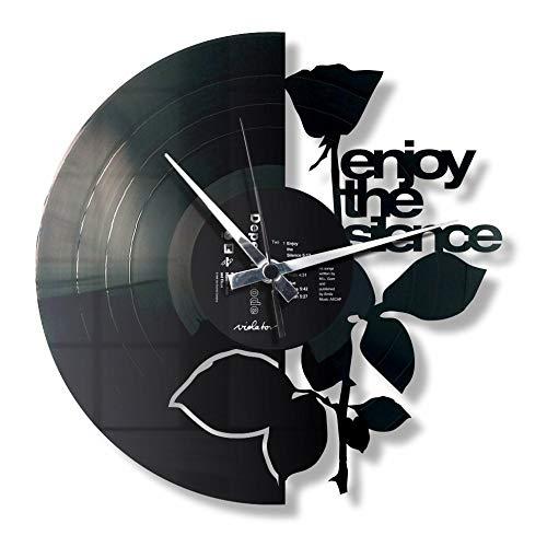 Disc\'O\'Clock Wanduhr aus Vinyl LP 33 Leise Enjoy The Silence, Geschenkidee mit Depeche Mode