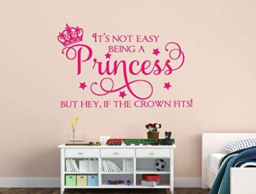 Kinderzimmer Dekor Prinzessin Kinderzimmer Dekor Es ist nicht einfach, eine Prinzessin zu sein, aber Hey, wenn die Krone Vinyl Wall Decal Princess Crown passt (Heys Crown)