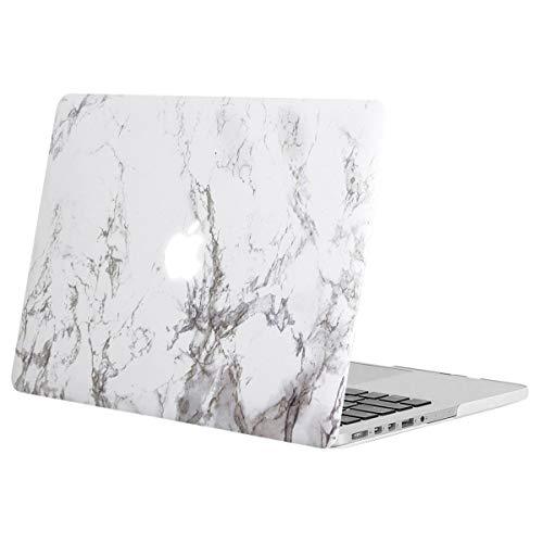 MOSISO Hülle Kompatibel mit MacBook Pro Retina 13 - Plastik Muster Hülle Kompatibel mit Ält Version MacBook Pro Retina 13 Zoll (Modell: A1502 & A1425) (Release 2015-2012), Weiß Marmor