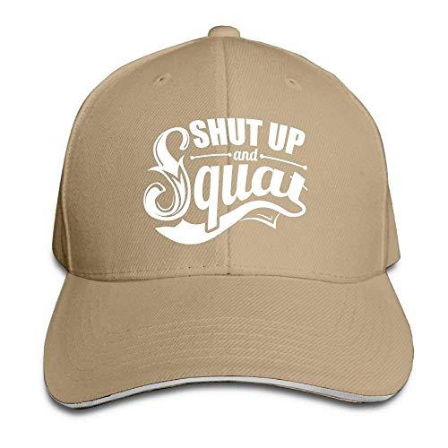 Kotdeqay Unisex Snapback Hip Hop Flat Hat Outdoor Caps Shut Up Squat Classic Adjustable OL4413