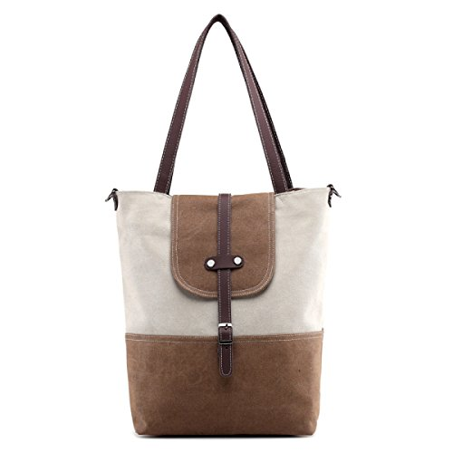 Tela Tote Tempo Libero Shopper Moda Signore Tracolla Messenger In Brossura Handbags Brown