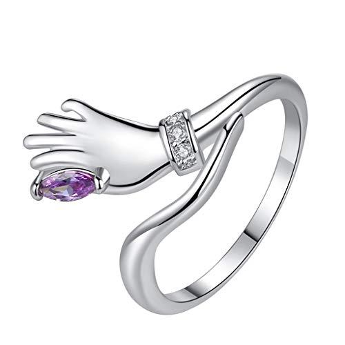 JUSTSELL  Ring Damen, Verlobungsring Silber Roségold Ring Paar Ring Valentinstag Ring...