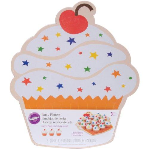 Wilton Herzförmige Kuchen Platten, 3zählen 12 x 10.5 inches cupcake (Topf Wilton)