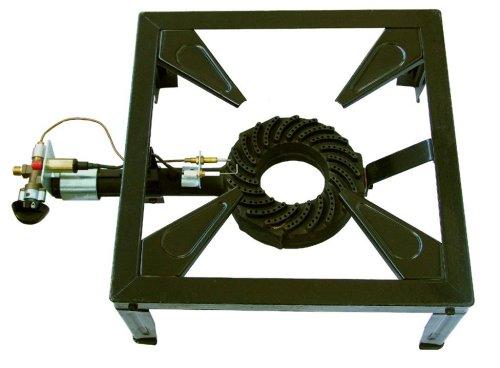 Hockerkocher-4-beinig - 7,5 kW (Piezoz. & Zündsichrng.) / mit Schlauch und Regler