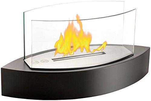 Carlo Milano Tischfeuer: Tischkamin mit Edelstahlkammer für Bio-Ethanol (Ethanol Feuer) -