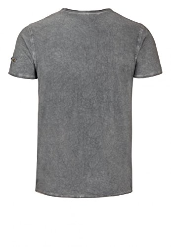 Lonsdale London Männer T-Shirt Petersfield dunkelgrau - figurbetont geschnitten Anthracite