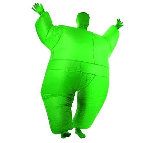 �bel Ganzkörper Kostüm Ganzanzug Suit Outfit Party - Grün (Grün Blow Up Anzug)