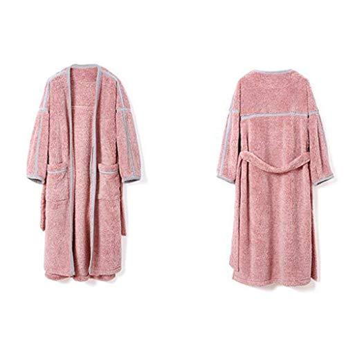 Pajamas Pyjama Suit , Coton avec Poches Peignoir , Couple Pyjamas d'hiver , Mode et Chaud Épaississant Polyester Chemise De Nuit , (Manches Longues),X-Large,/1