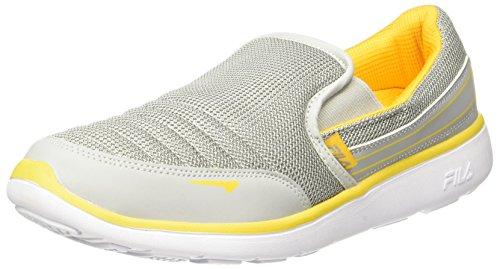 Fila Men's Smash Lite IV Lt Gry and Yel Sneakers - 8 UK/India (42 EU)(11004561)
