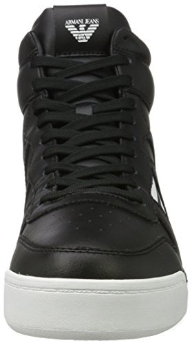 Emporio Armani Sneaker High Cut, Chaussons montants homme Schwarz (Nero)