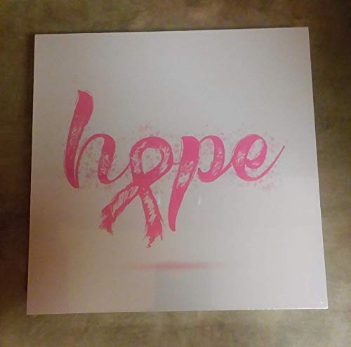 Wandtafel Courage Hope Love Breast Cancer 20,3 x 20,3 cm -