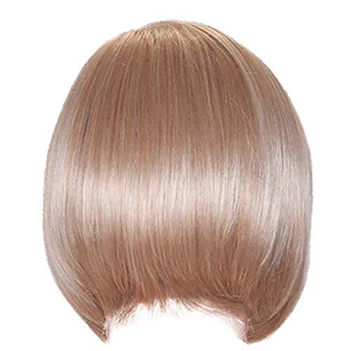 Bumen Kurze Perücke Zarter Stufenschnitt Wig Strähnen Farbverlauf - Blond Neu Perücke Haar Wigs Weiblich Blond leicht Gewellt Kurz für Karneval Cosplay Halloween WFF096