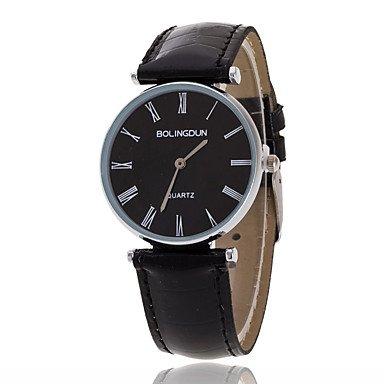 Fenkoo Herren Armbanduhr Quartz Armbanduhren für den Alltag Leder Band Schwarz / Braun Marke-