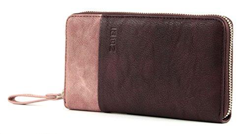 Zwei Eva EV2 Reißverschluss Geldbörse Portemonnaie Geldbeutel Brieftasche, Wine